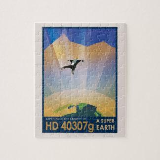 NASA Future Travel Sci Fi Poster - Super Earth Jigsaw Puzzle