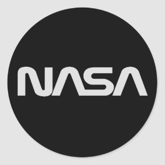 NASA Gray Worm Logo Classic Round Sticker