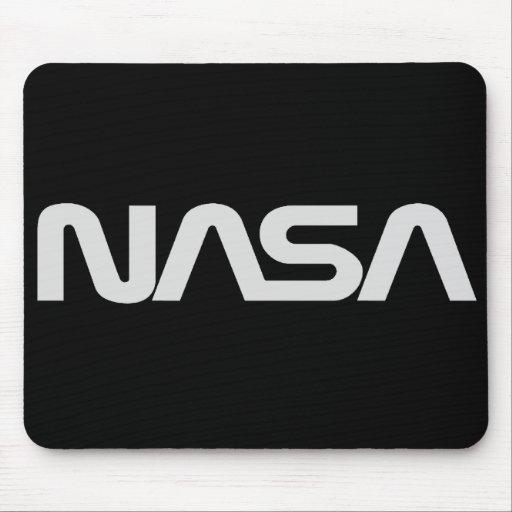 NASA Gray Worm Logo Mouse Mat