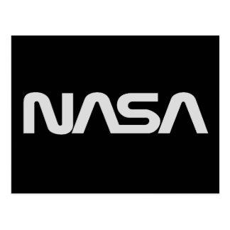 NASA Gray Worm Logo Postcards