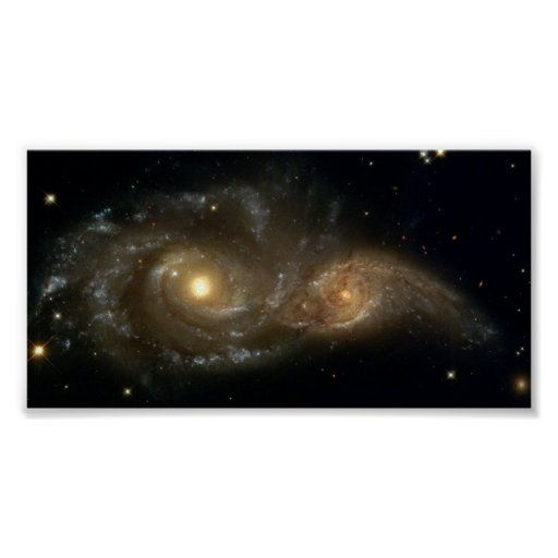 NASA Grazing Encounter Between Two Spiral Galaxies Poster