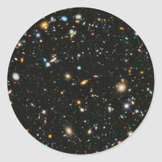 NASA Hubble Ultra Deep Field Galaxies Classic Round Sticker