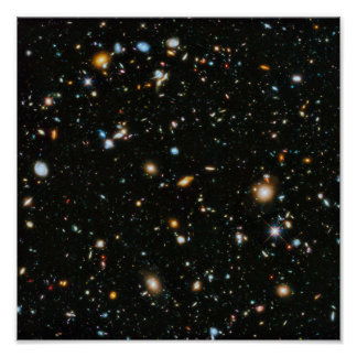 NASA Hubble Ultra Deep Field Galaxies Poster
