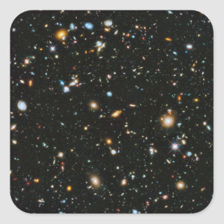 NASA Hubble Ultra Deep Field Galaxies Square Sticker