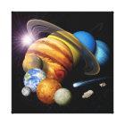 NASA JPL Solar System Planets Montage Space Photos Canvas Print