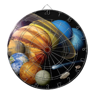 NASA JPL Solar System Planets Montage Space Photos Dartboard
