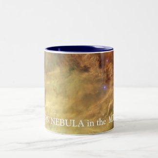 NASA Lagoon Nebula Two-Tone Mug