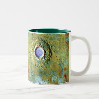 NASA Mars Pedestal Craters in Utopia Two-Tone Coffee Mug