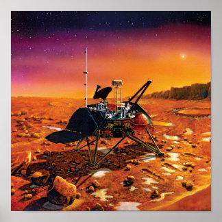 NASA Mars Polar Lander Artist Concept Artwork Poster