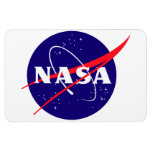 NASA Meatball Logo Vinyl Magnet