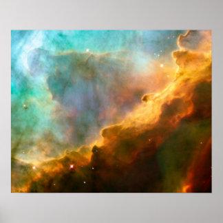 NASA - Omega Swan Nebula M17 Posters
