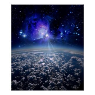 Nasa, orbiting earth, beautiful earth from space poster