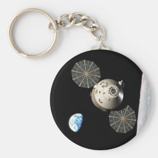 NASA Orion in Lunar Orbit Basic Round Button Key Ring