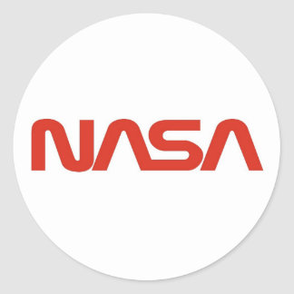 NASA Red Worm Logo Classic Round Sticker