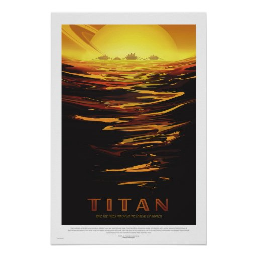 NASA - Retro Titan Tour Travel Poster