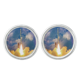 NASA Scout Rocket Launch Liftoff Cufflinks