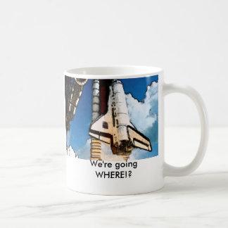 NASA Shuttle TakeOff Basic White Mug