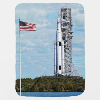 NASA SLS Space Launch System Rocket Launchpad Baby Blanket