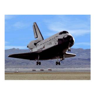 NASA Space Shuttle Atlantis Landing Edwards AFB Postcard