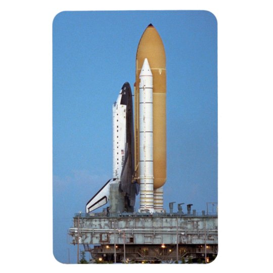 NASA Space Shuttle Atlantis STS-86 Launch Rollout Rectangular Photo Magnet