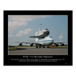 NASA Space Shuttle Discovery hitch ride on Boeing Poster