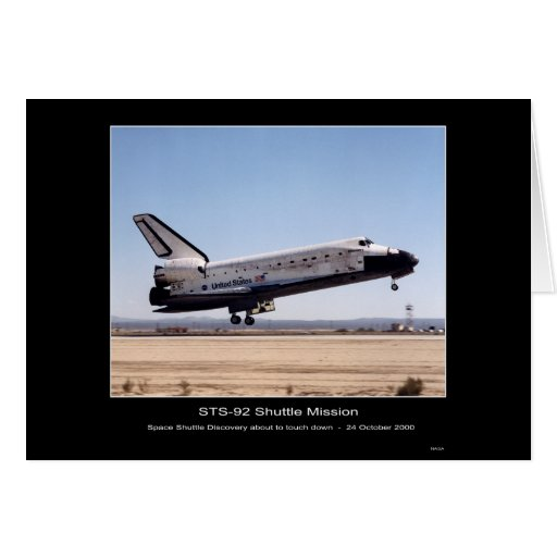 NASA Space Shuttle Discovery Landing-STS-92 Shuttl Greeting Cards