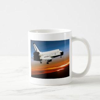 NASA SPACE SHUTTLE FLYING INTO COCOA BEACH COFFEE MUG