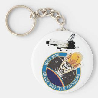 NASA Space Shuttle Program Basic Round Button Key Ring
