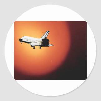 Nasa Space Shuttle Sun Classic Round Sticker