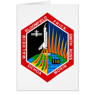 NASA STS-110 Shuttle Mission Patch Greeting Card