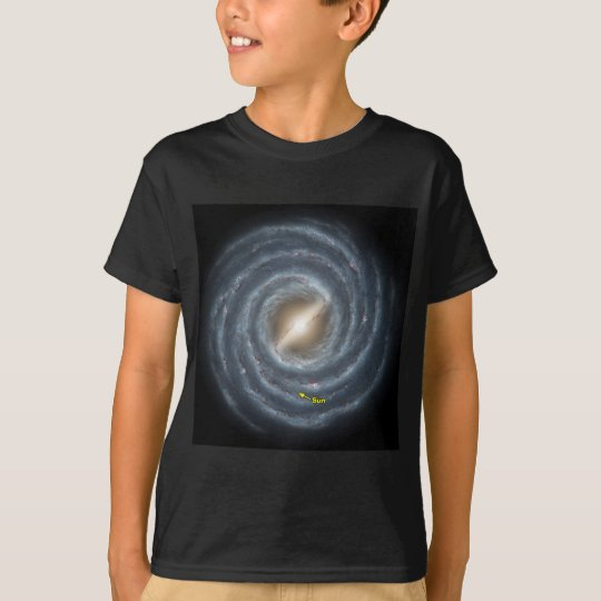NASA Sun in the Milky way T-Shirt
