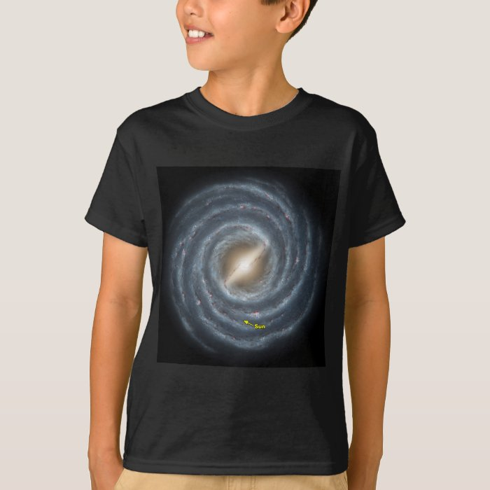 NASA Sun in the Milky way T-Shirt