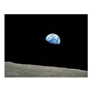 NASA - View from Apollo8, Dec24, Earthrise Postcard