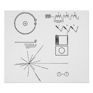 NASA Voyager Golden Record Poster