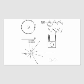 NASA Voyager Golden Record Rectangular Sticker