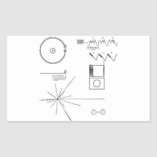 NASA Voyager Golden Record Rectangle Stickers
