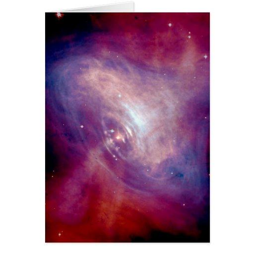 NASA - X-Ray & Optical Images of the Crab Nebula Greeting Card
