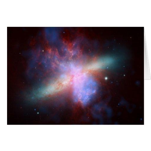 NASA - X-ray-Visible-Infrared Image of M82 Greeting Cards