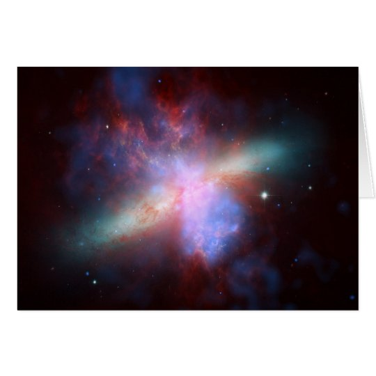 NASA - X-ray-Visible-Infrared Image of M82 Card