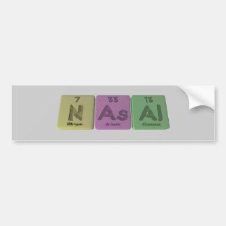Nasal-N-As-Al-Nitrogen-Arsenic-Aluminium png Bumper Sticker