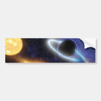 NASAs Black hole grabs starry snack Bumper Sticker
