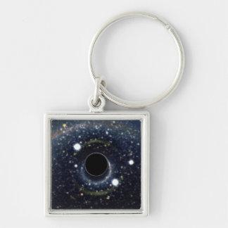 NASAs Black hole Silver-Colored Square Key Ring