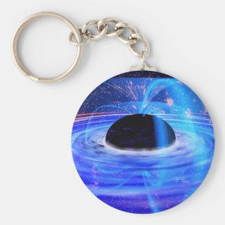 Nasa's Blue Black Hole Basic Round Button Key Ring