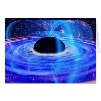 Nasa's Blue Black Hole Card