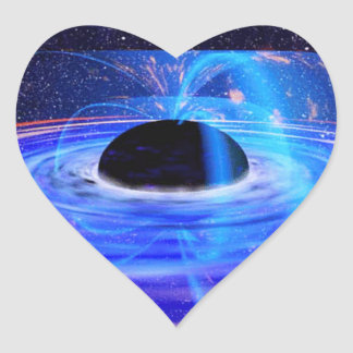 Nasa's Blue Black Hole Heart Sticker