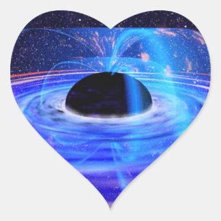 Nasa's Blue Black Hole Heart Sticker