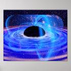 Nasa's Blue Black Hole Poster
