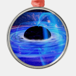 Nasa's Blue Black Hole Silver-Colored Round Decoration