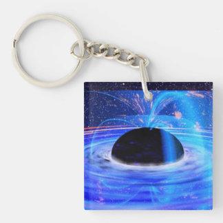 Nasa's Blue Black Hole Single-Sided Square Acrylic Key Ring