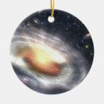 NASAs Bursting with Stars and Black Holes Round Ceramic Decoration